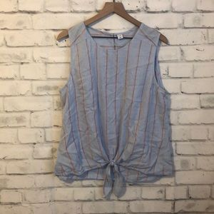Old Navy baby blue striped tank